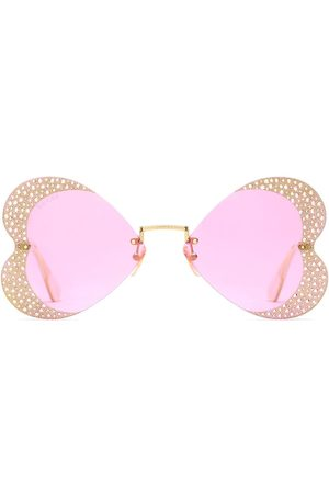 Gucci Crystal-encrusted heart sunglasses