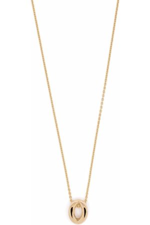 Le Gramme 18kt yellow gold logo-engraved necklace