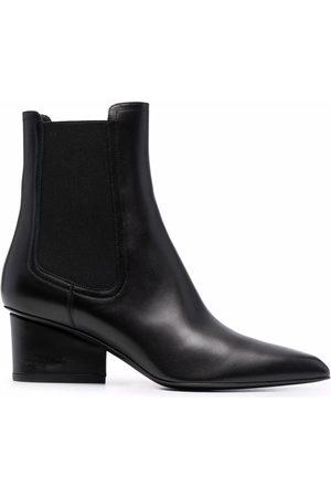 Salvatore Ferragamo Logo-embossed heel Chelsea boots
