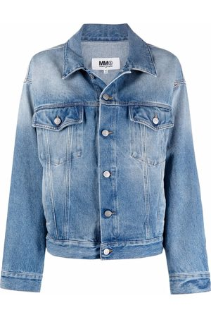 MM6 MAISON MARGIELA Bleach-wash denim jacket