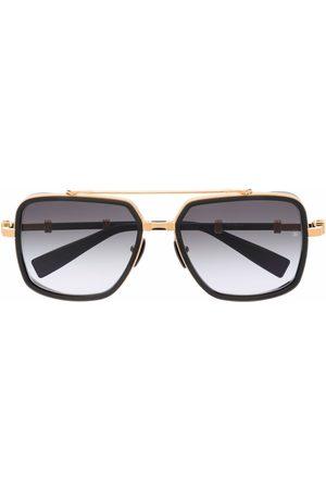 Balmain Sluneční brýle - Gradient-frames aviator sunglasses