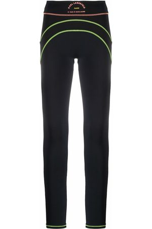 Karl Lagerfeld Technical contrast stitching leggings