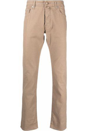Jacob Cohen Logo-patch straight-leg trousers