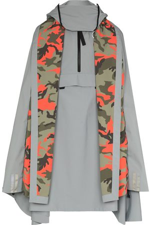 Y / PROJECT X Canada Goose Field camouflage panel cape
