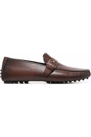 santoni Buckle-detail leather loafers