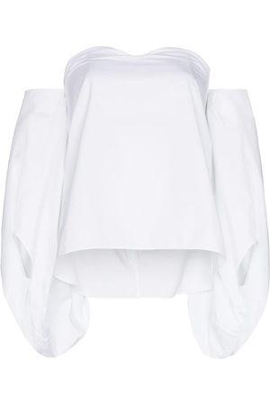 Rosie Assoulin Off-shoulder puff-sleeves blouse