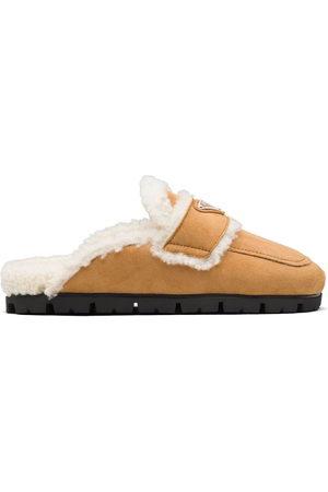 Prada Shearling-lined slippers