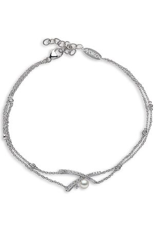 Yoko London Ženy Náramky - 18kt white gold diamond Akoya pearl Sleek bracelet