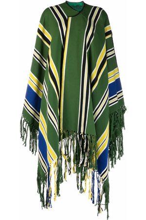 Colville Striped draped coat