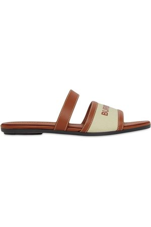 Burberry Logo-strap flat sandals