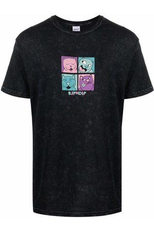Rip N Dip Cat square print T-shirt