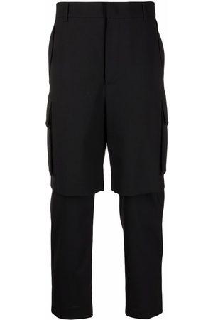 JUUN.J Layered straight-leg trousers