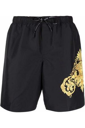 VERSACE Barocco-print swim shorts