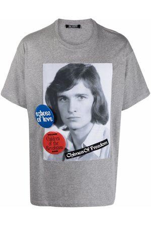 RAF SIMONS Chimes of Freedom-print short-sleeve T-shirt