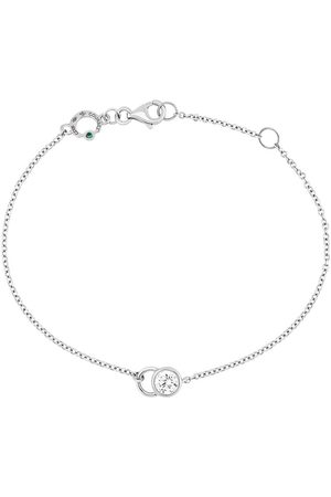 COURBET Ženy Náramky - 18kt white gold diamond CO chain bracelet