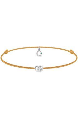 COURBET 18kt white gold diamond Let's Commit cord bracelet