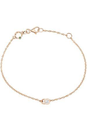 COURBET Ženy Náramky - 18kt rose gold diamond CO chain bracelet
