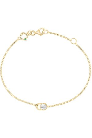 COURBET 18kt yellow gold diamond CO chain bracelet
