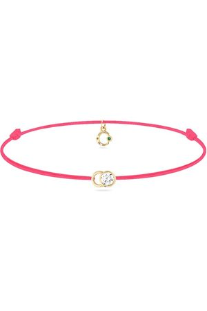 COURBET 18kt yellow gold diamond Let's Commit bracelet