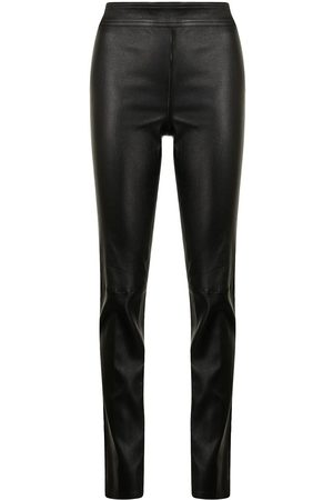 Helmut Lang Slit-cuff leather trousers