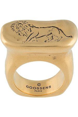 Goossens Harumi Lion signet ring