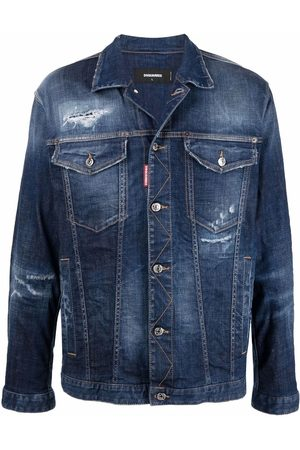 Dsquared2 Ripped-detailing denim jacket