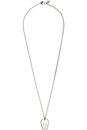 Alexander McQueen Skull Tag curb-chain necklace