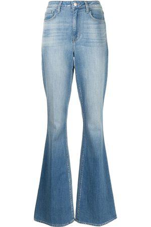 L'Agence Stonewashed flared jeans