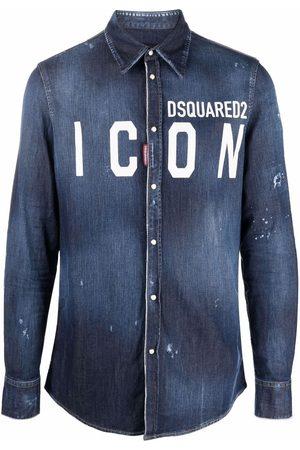 Dsquared2 Muži Džínové košile - Icon denim shirt