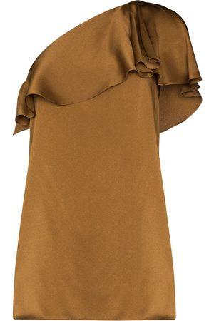Saint Laurent Off-shoulder ruffled minidress