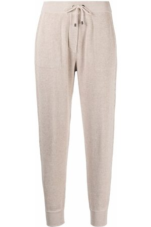 Brunello Cucinelli Knitted cotton track pants