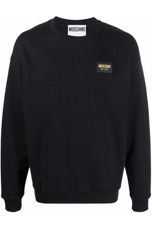 Moschino Logo-plaque long-sleeve sweatshirt