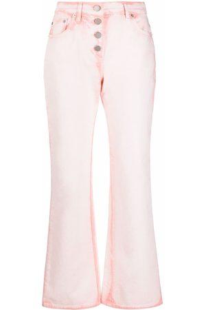 Alberta Ferretti Acid-wash bootcut jeans