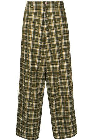 UNDERCOVER Tartan wide-leg trousers