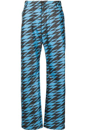 WALTER VAN BEIRENDONCK Zigzag-print wide-leg trousers