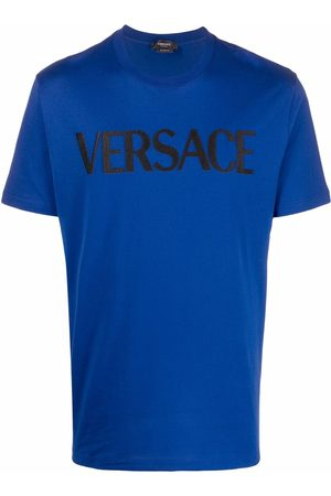 VERSACE Logo-embroidered T-shirt