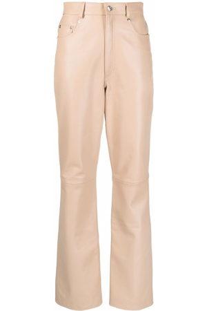 Manokhi Ženy Kožené kalhoty - Leather wide-leg trousers
