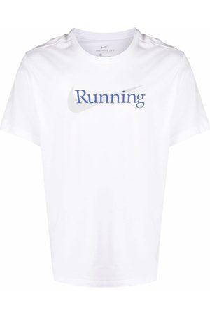Nike Dri-FIT Running Swoosh slogan-print t-shirt