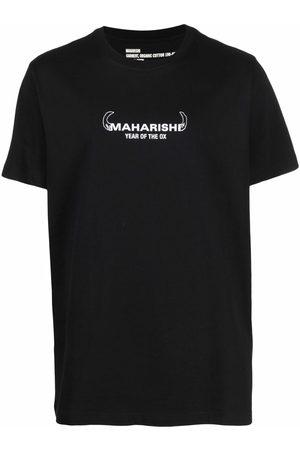 Maharishi Muži S krátkým rukávem - Logo-print organic cotton T-shirt