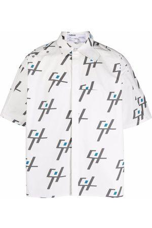 C2H4 Geometric short-sleeve shirt