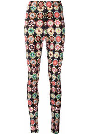 La DoubleJ Graphic-print high-waisted leggings