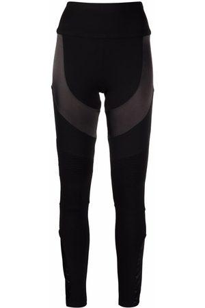 Philipp Plein Ženy Legíny - Panelled cotton leggings