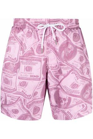 Philipp Plein Dollar-print swimming shorts