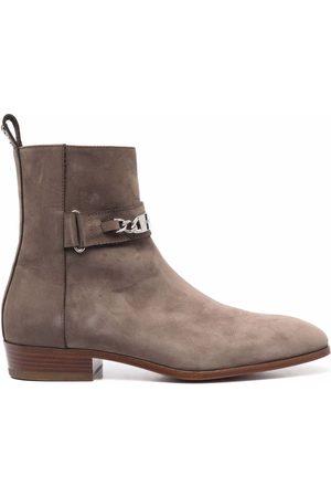 Philipp Plein Nabuk leather ankle boots