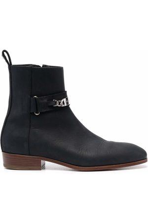 Philipp Plein Muži Kotníkové - Nabuk leather ankle boots