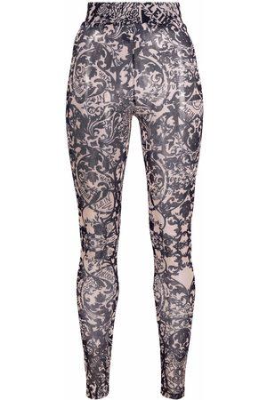 Philipp Plein Ženy Legíny - New Baroque printed tulle leggings