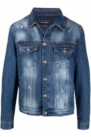 Philipp Plein Graphic-print denim jacket