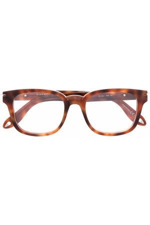 Givenchy Tortoiseshell-effect wayfarer glasses