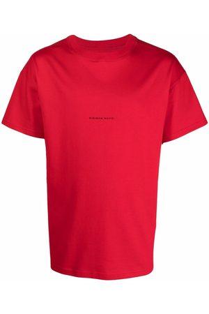 Styland S krátkým rukávem - Slogan-print crew neck T-shirt