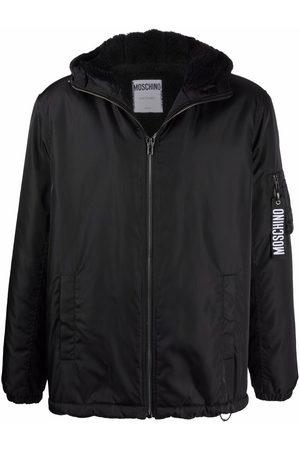 Moschino Logo-keyring bomber jacket